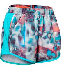 shorts running under armour fly mujer multicolor