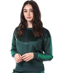 only womens misty crew sweatshirt size 16 in green