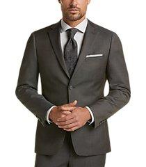 calvin klein green skinny fit plaid suit