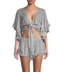textured kimono sleeves cover-ups