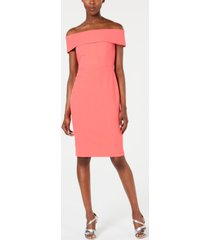 calvin klein petite off-the-shoulder sheath dress