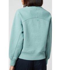 ami women's de coeur sweatshirt - green - l