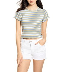 women's dickies stripe ribbed crop t-shirt