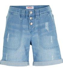 shorts di jeans elasticizzato comfort boyfriend (blu) - john baner jeanswear