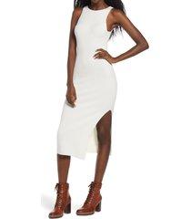 women's leith rib sleeveless midi dress, size x-large - ivory