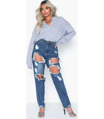 missguided riot high rise ripped jean jeans