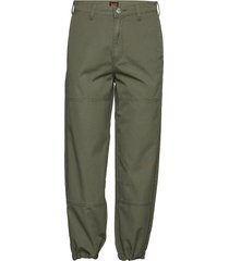 military pant casual byxor grön lee jeans