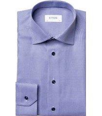 eton shirt lange mouwen blauw