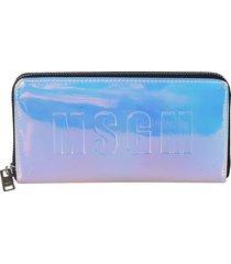 msgm logo zip-around wallet