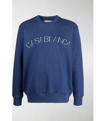 casablanca cotton logo sweatshirt