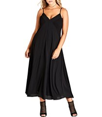 plus size women's city chic boho chic maxi dress