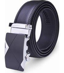 fashion gentleman business automatic lega fibbia in pelle cintura