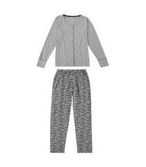 pijama feminino malwee 1000077283 cinza