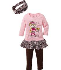 topp + kjol + leggings + hårband för flickor (4 delar)