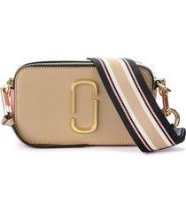 the marc jacobs snapshot beige and pink shoulder bag