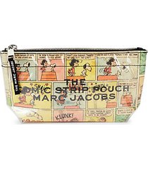large printed cosmetic pouch