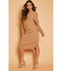 knitted oversized sweater, camel