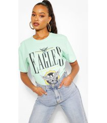 eagles printed washed t-shirt, mint