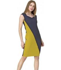 vestido jumper diagonal azul bous