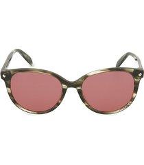 alexander mcqueen women's 54mm oval core sunglasses - brown pink