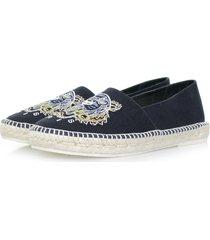 kenzo slit canvas tiger navy shoe m61525 e17