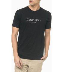 camiseta masculina slim new york flamê preta calvin klein - pp