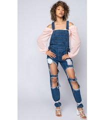 akira the distressed bf overall