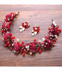 flor artesanal pasador de horquilla novia boda apareados para vestido de novia