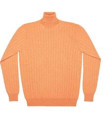 maglione da uomo, lanieri, 100% cashmere arancione, autunno inverno | lanieri