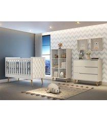 dormitório valentina comoda 3 gavetas guarda roupa montessoriano berço lorena c/ capitone carolina baby branco
