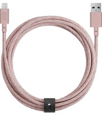 belt extra long lightning charging cable - rose