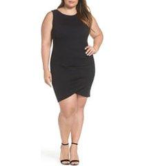 plus size women's leith ruched sheath dress, size 4x - black