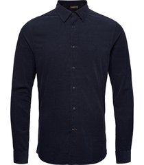 cedrik button under shirt skjorta casual blå morris