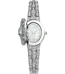 charter club women's silver-tone crystal bracelet watch 23mm, created for macys'