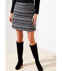 loft petite shimmer tweed shift skirt