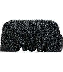 benedetta bruzziches hinged crystal clutch - black