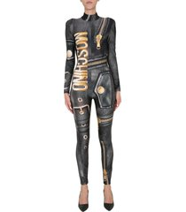 moschino printed jumpsuit