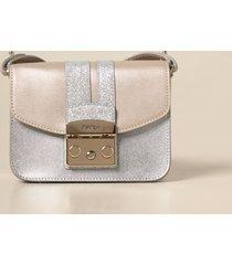 furla crossbody bags metropolis furla bag in pearled leather and glitter