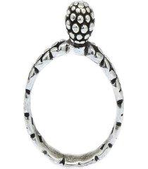 anel com bolinha e mircoesferas e aro trabalhado prata 925