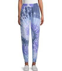 design 365 women's tie-dye jogging pants - blue - size m