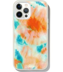 sonix orange glow iphone 12/12 pro, 12 pro max & 12 mini case - orange