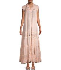 free people women's pretty cozy eyelet dress - ecru - size m