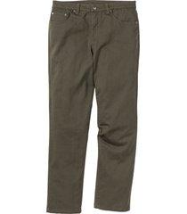 pantaloni elasticizzati classic fit straight (verde) - bpc bonprix collection
