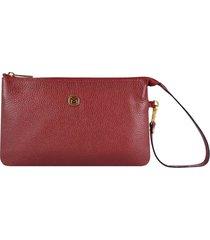 bolsa carteira couro mariart vermelho