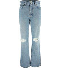 etro denim jeans with destroyed details