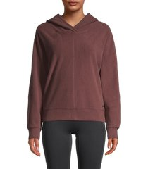 marc new york performance women's seamed hoodie - dried rose - size m