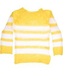 sweater amarillo exótica rayado
