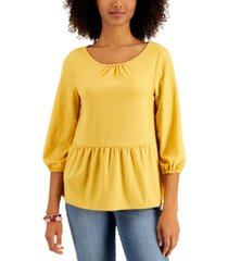 style & co clip dot top, created for macy's
