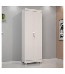 armário multiuso com chave 2 portas branco mucuri jcm movelaria