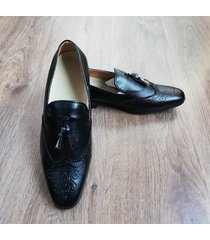 zapatos loafer oxford new para hombre outfit negro